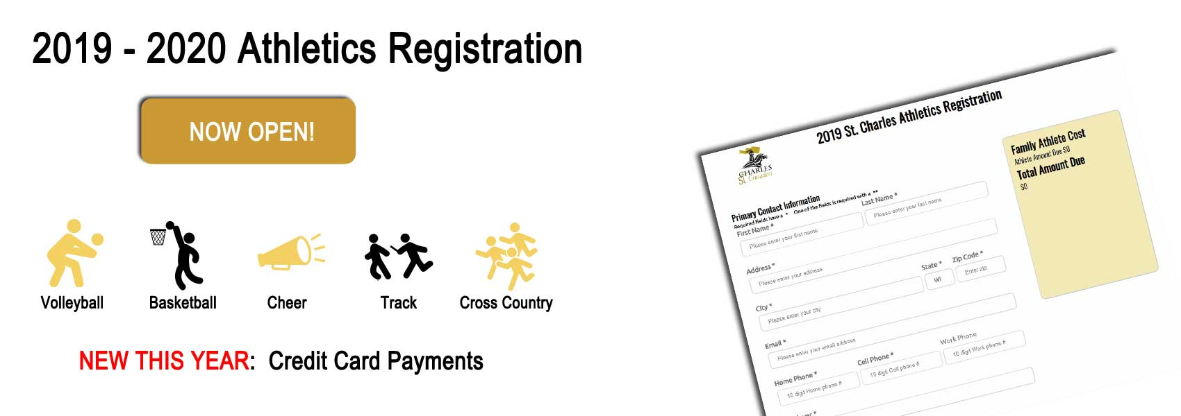2019-2020 Athletics Registration