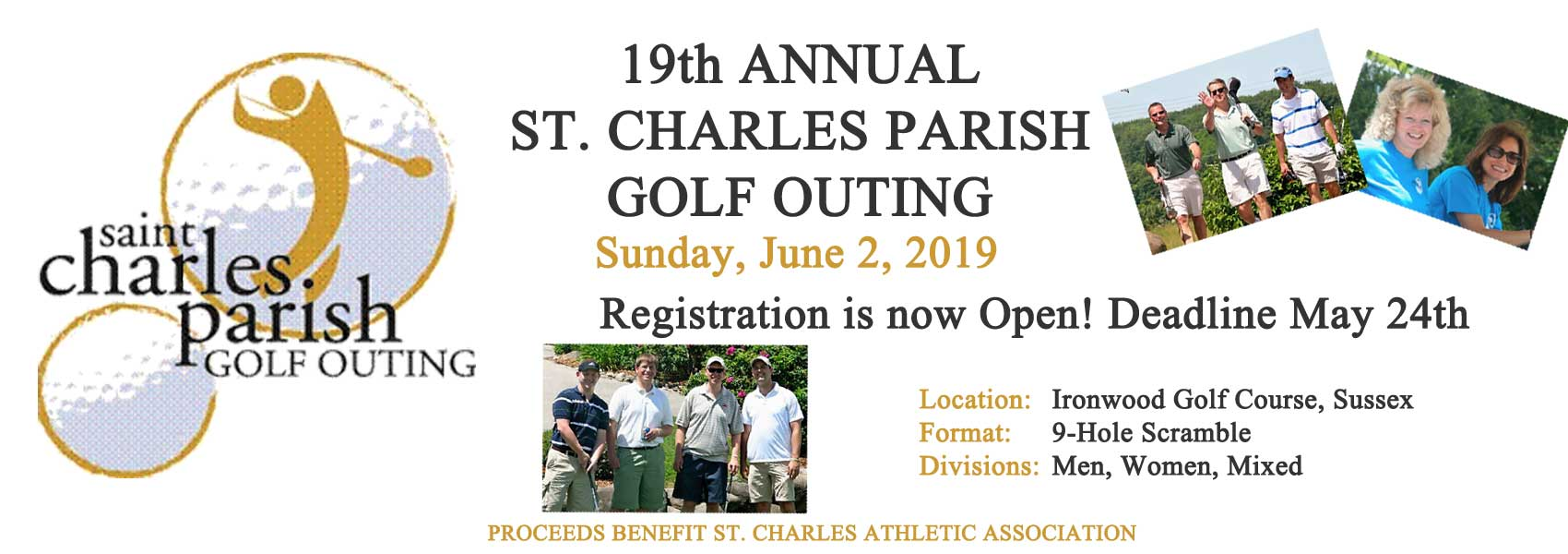 2019 St. Charles Golf Outing - 19th Annual Outing at Ironwood Golf Course